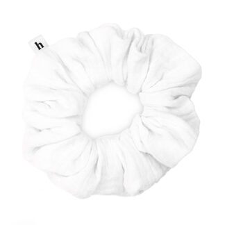 HELLA WHITE COTTON SCRUNCHIE - BASIC